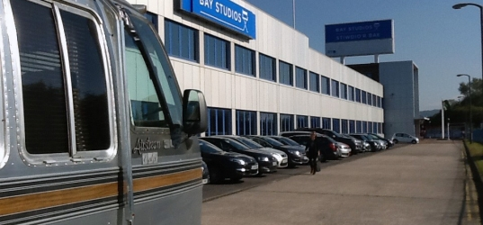 """Airstream Hired for Higgins Tour Bus in """"The Rack Pack"""""""