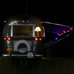 Airstream rear with lights